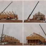 Log Truss Installation