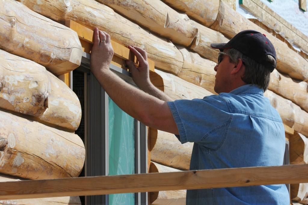 Log Wall Window