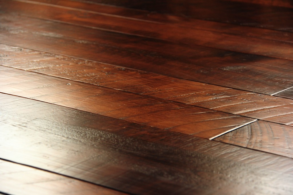 This rich colored wood flooring is actually the same wood used for the ...