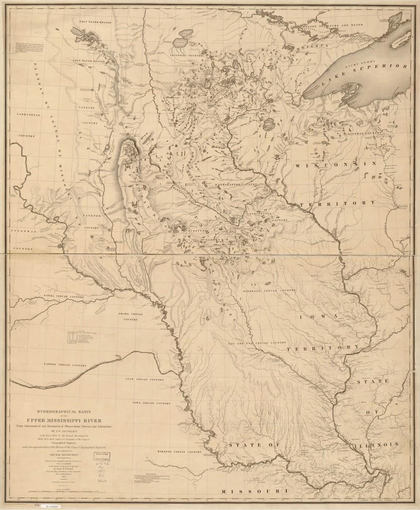 Joseph Nicollet's 1843 Map