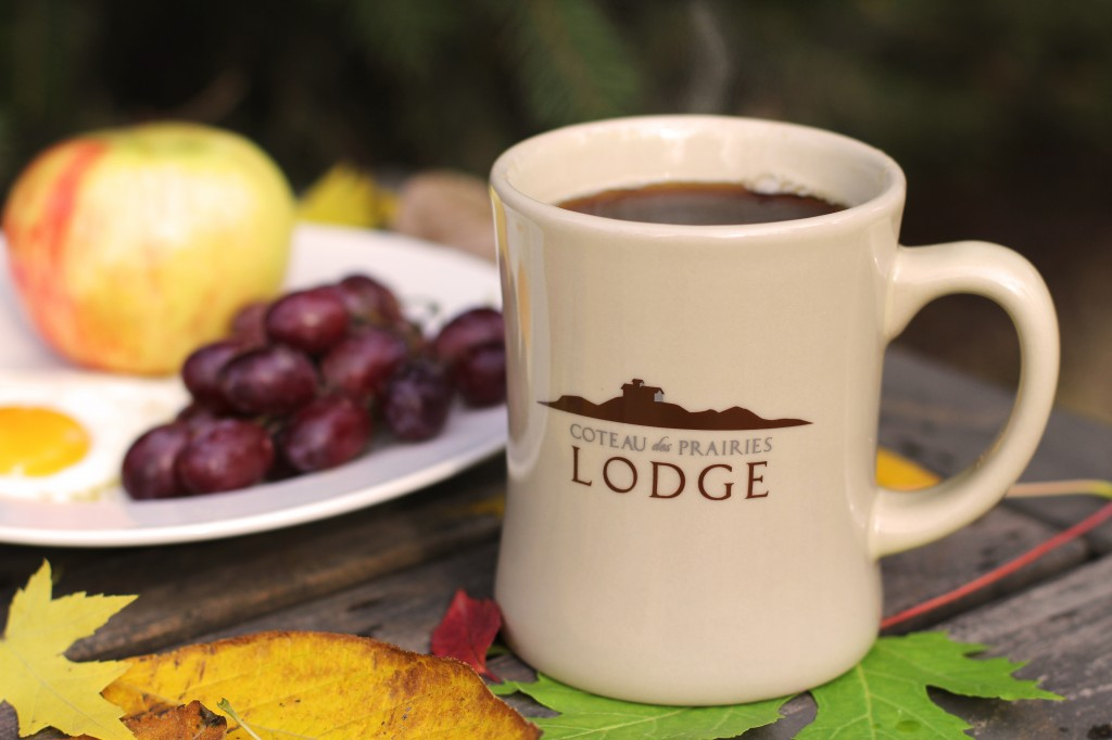 Coteau des Prairies Lodge logo mug