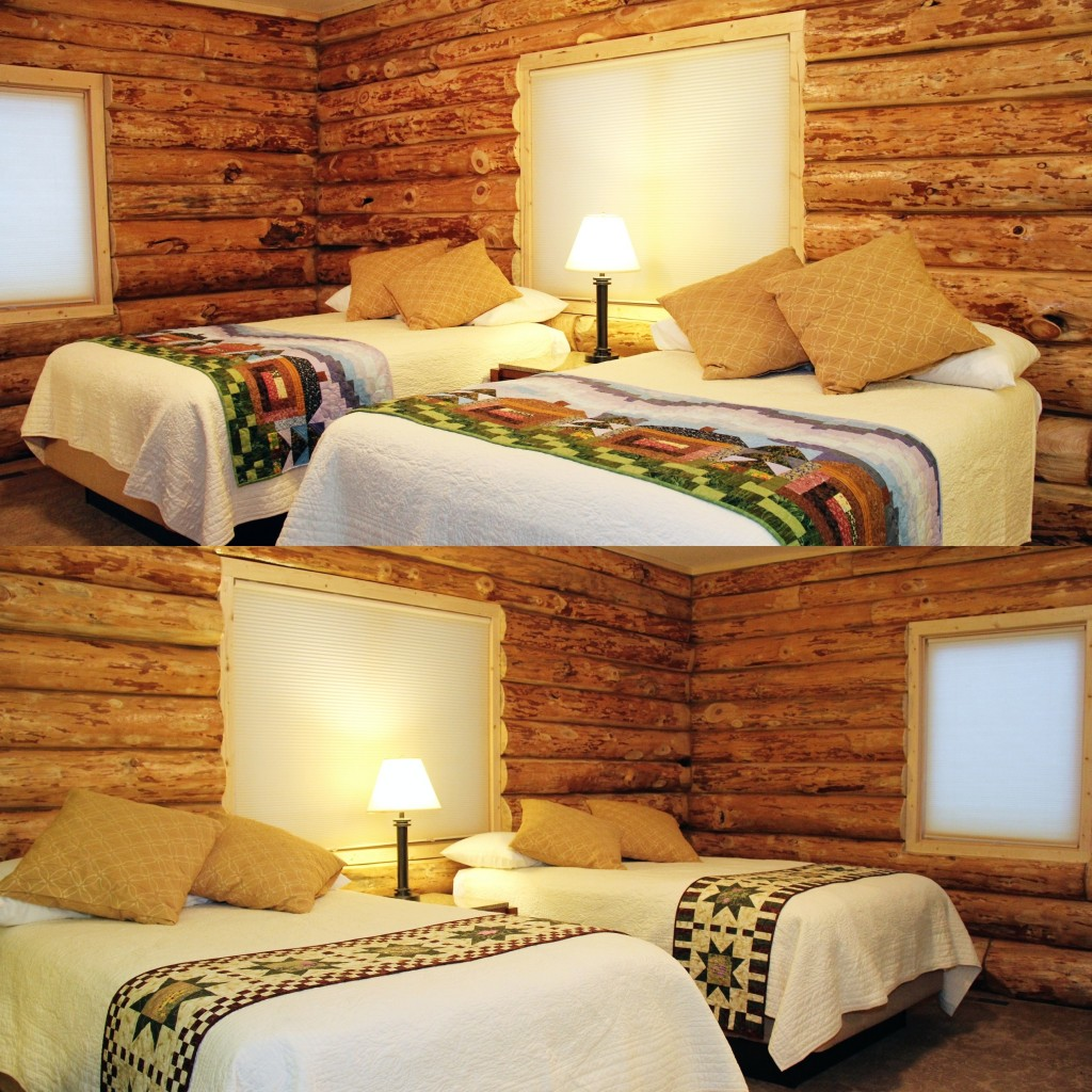 Log Wall Bedrooms