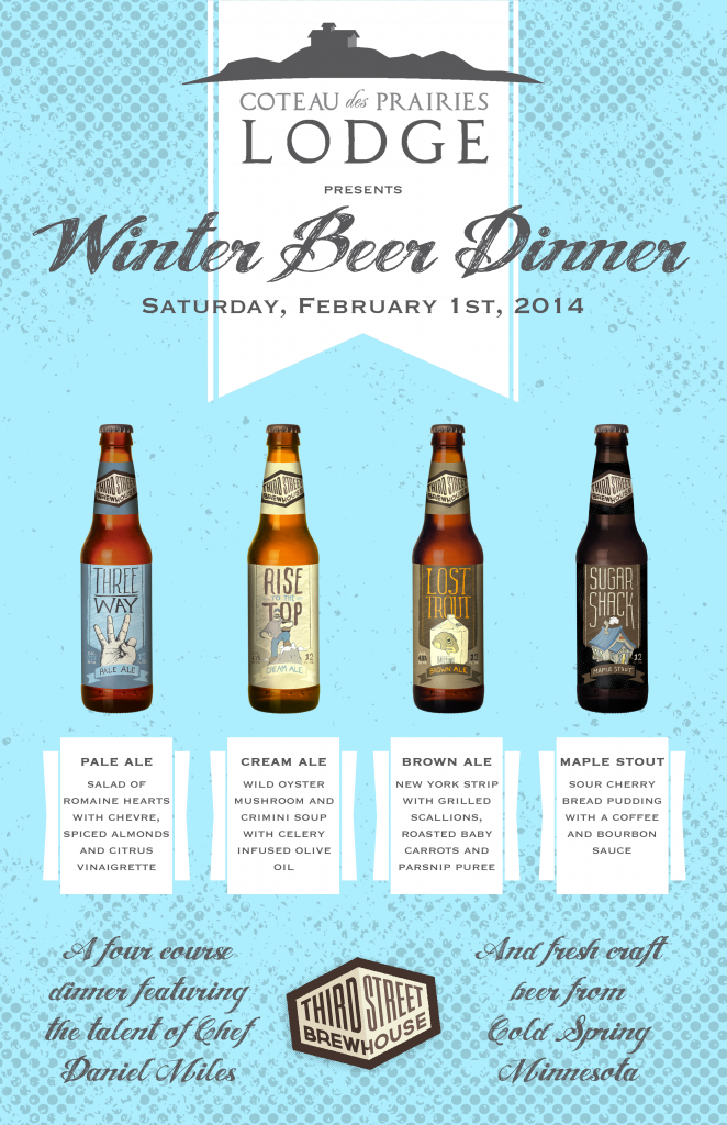 Winter Beer Dinner Poster