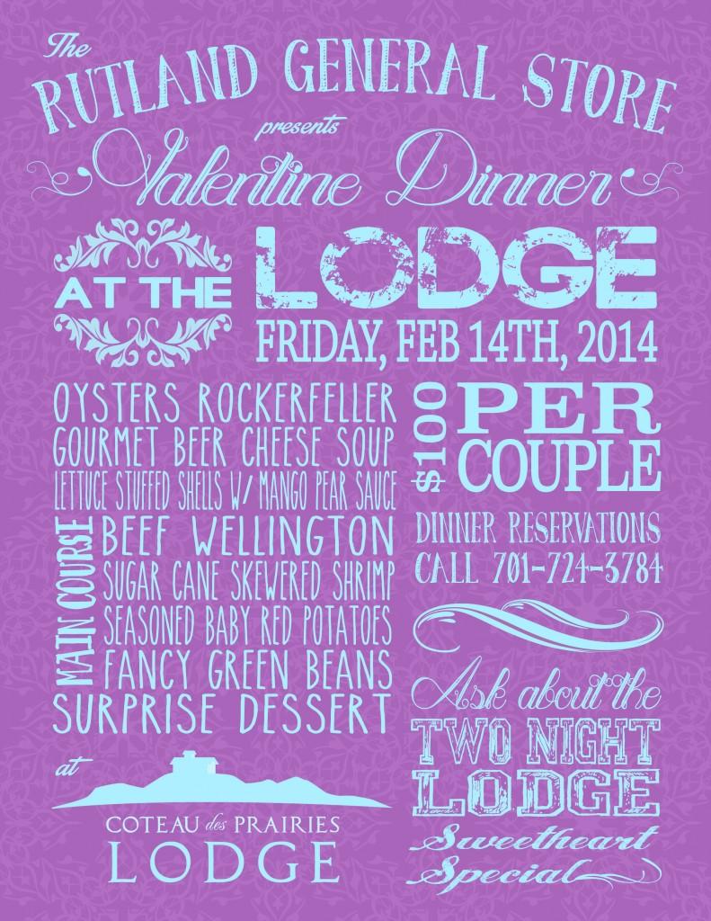 Valentine Dinner Poster