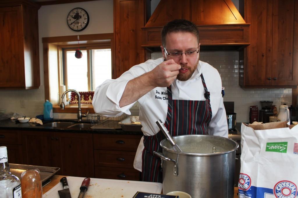 Chef Daniel Miles taste test