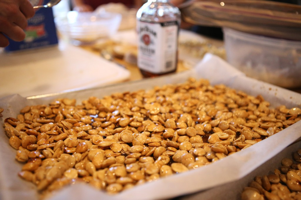 Spicy candied marcona almonds for salad