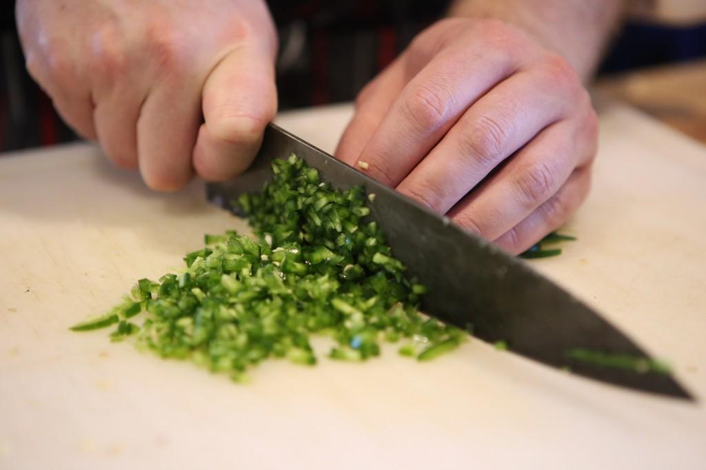 Chopped jalapenos