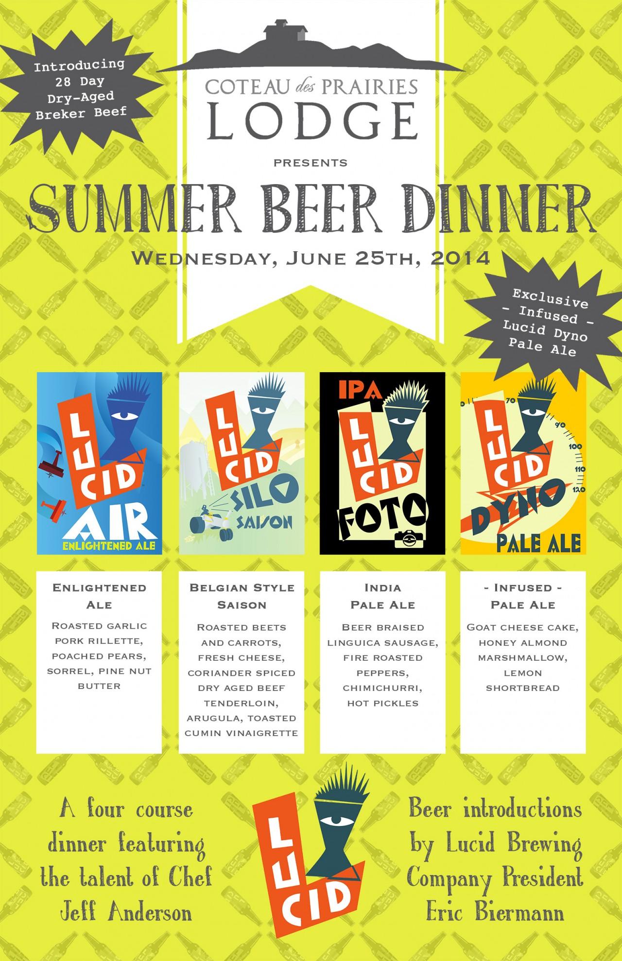 Lucid Beer Dinner Poster web