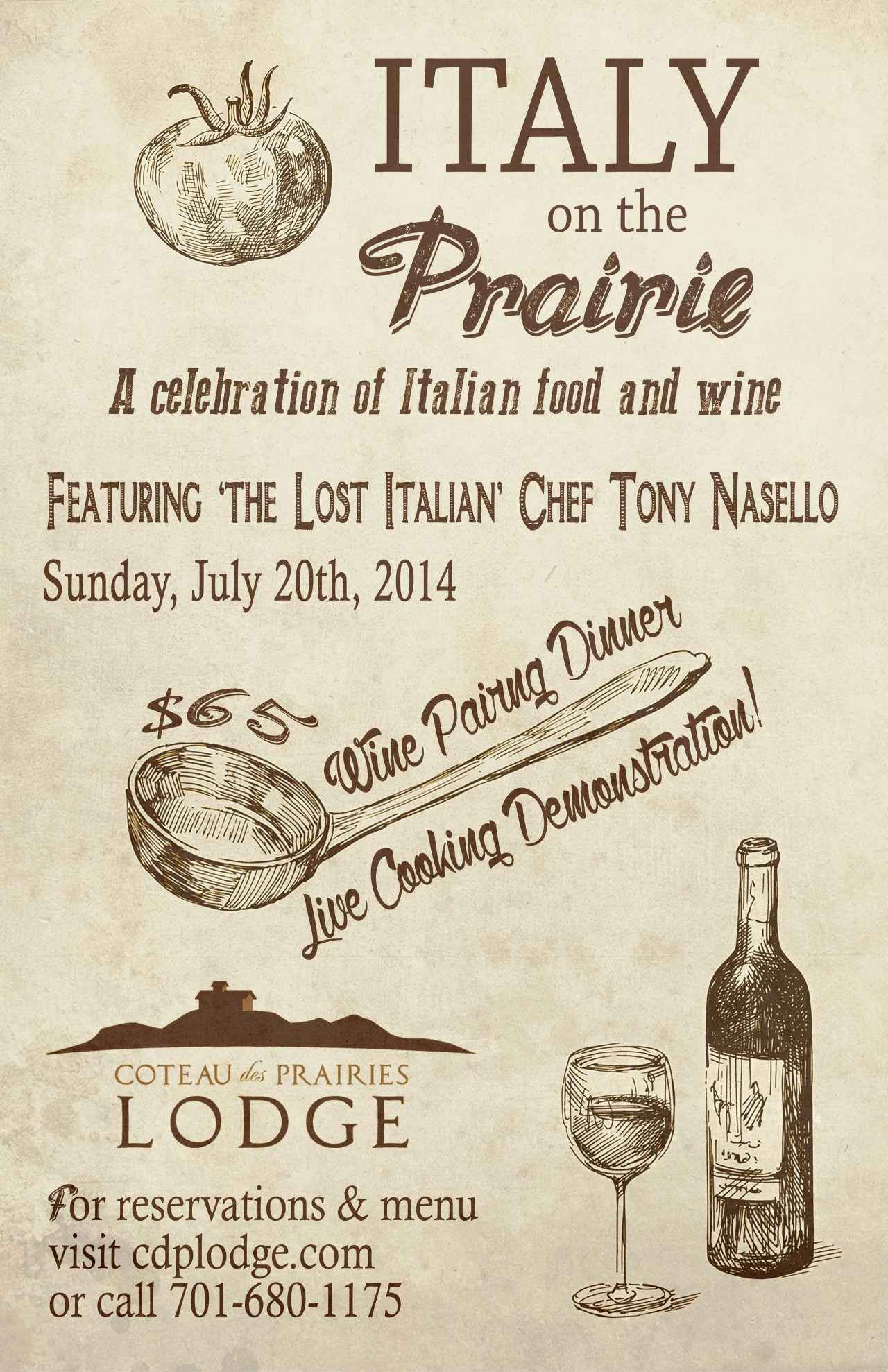Italy on the Prairie Poster 11x17 v1.2
