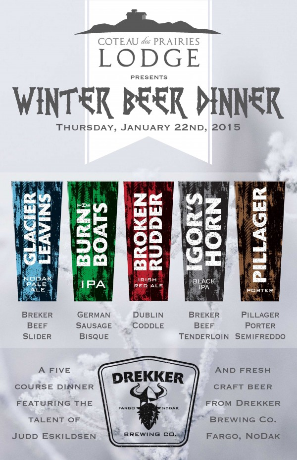 Drekker Beer Dinner Poster web