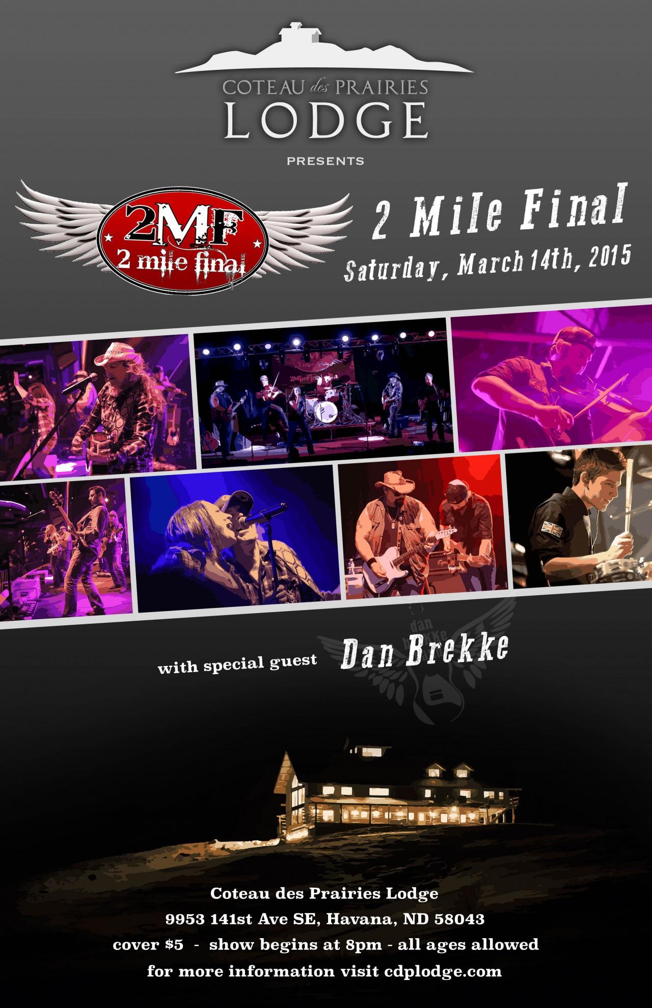2 Mile Final Concert Poster
