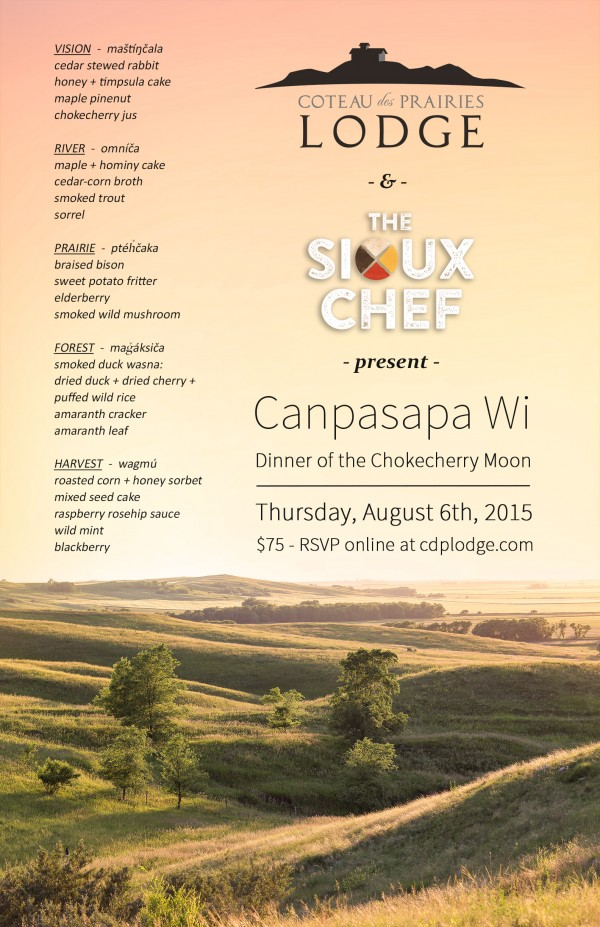 The Sioux Chef Dinner Poster