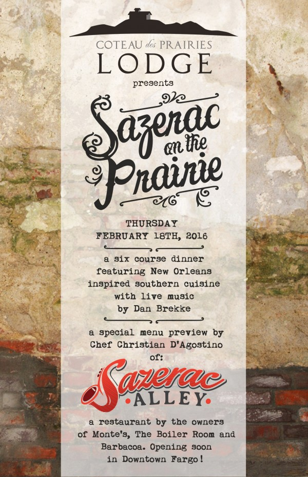 Sazerac on the Prairie Poster