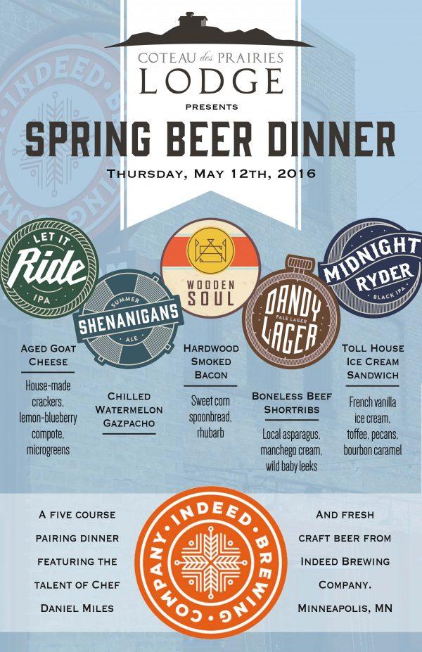 Indeed Beer Dinner Poster