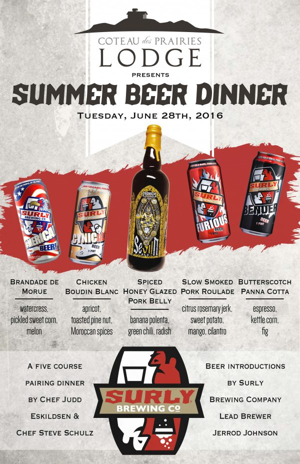 Surly Beer Dinner Poster2