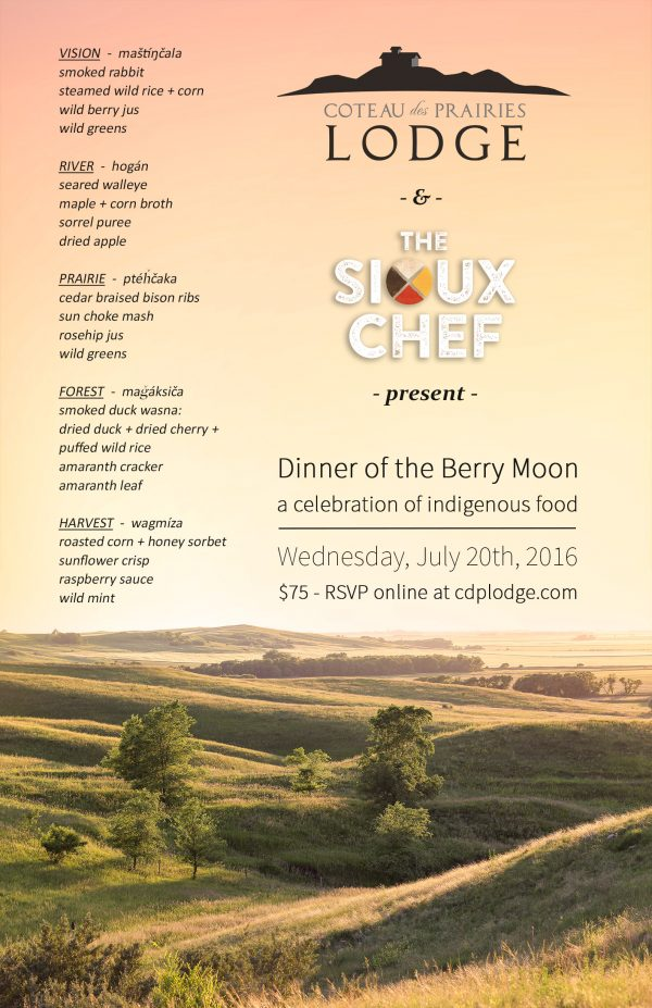 The Sioux Chef Dinner of the Berry Moon Poster2