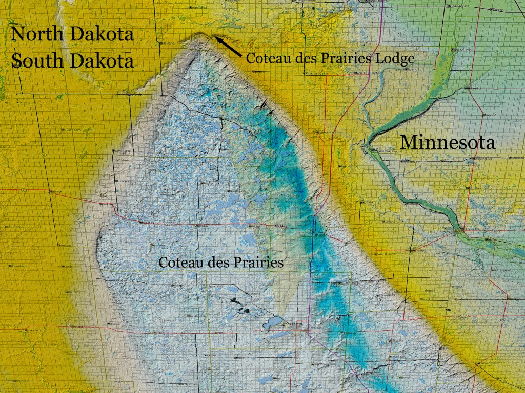 Coteau des Prairies Elevation Map