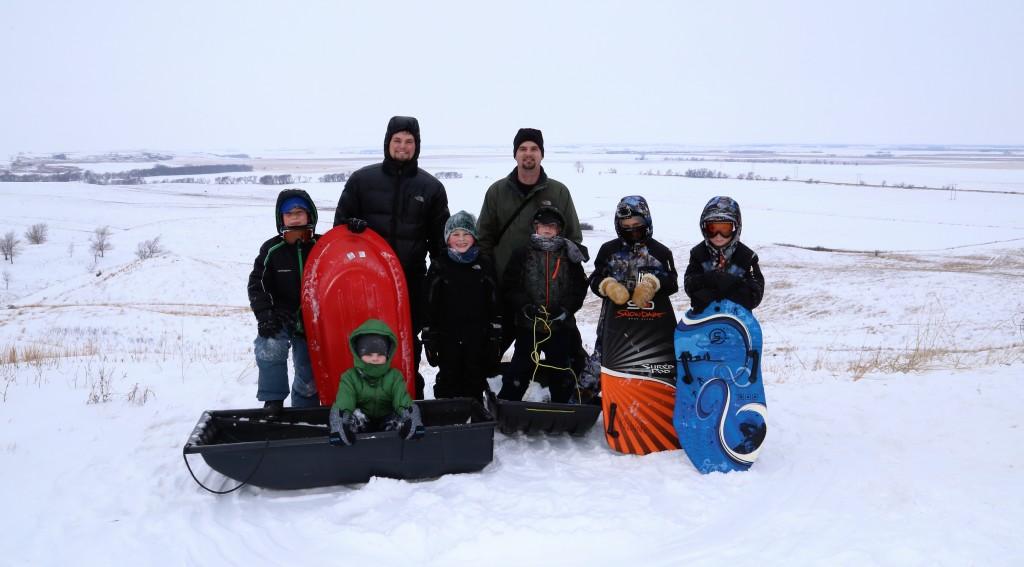Sledding at Coteau des Prairies Lodge