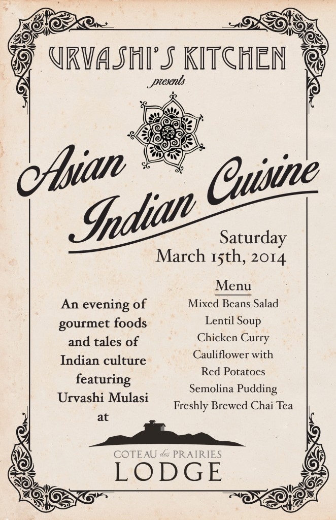 Indian Cuisine Poster English Version