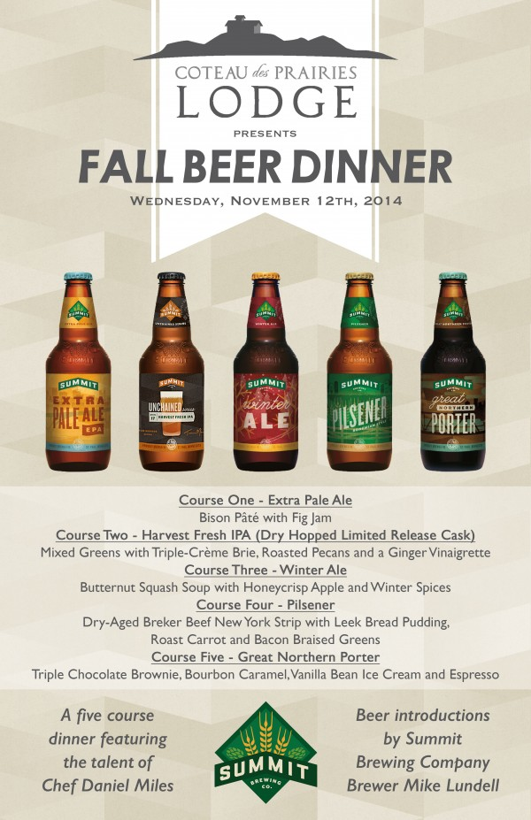 Summit Beer Dinner Poster
