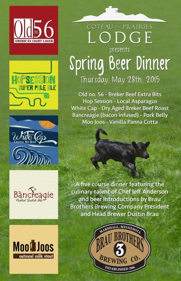 Brau Beer Dinner Poster