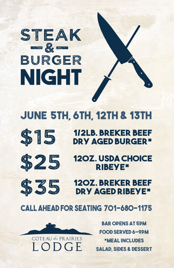 Steak & Burger Night Poster