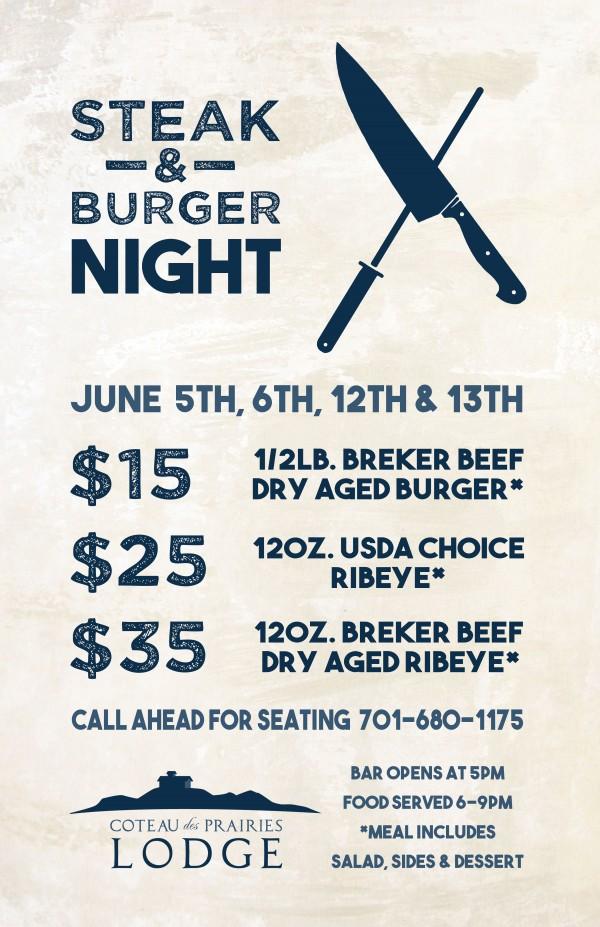 Steak & Burger Night Poster