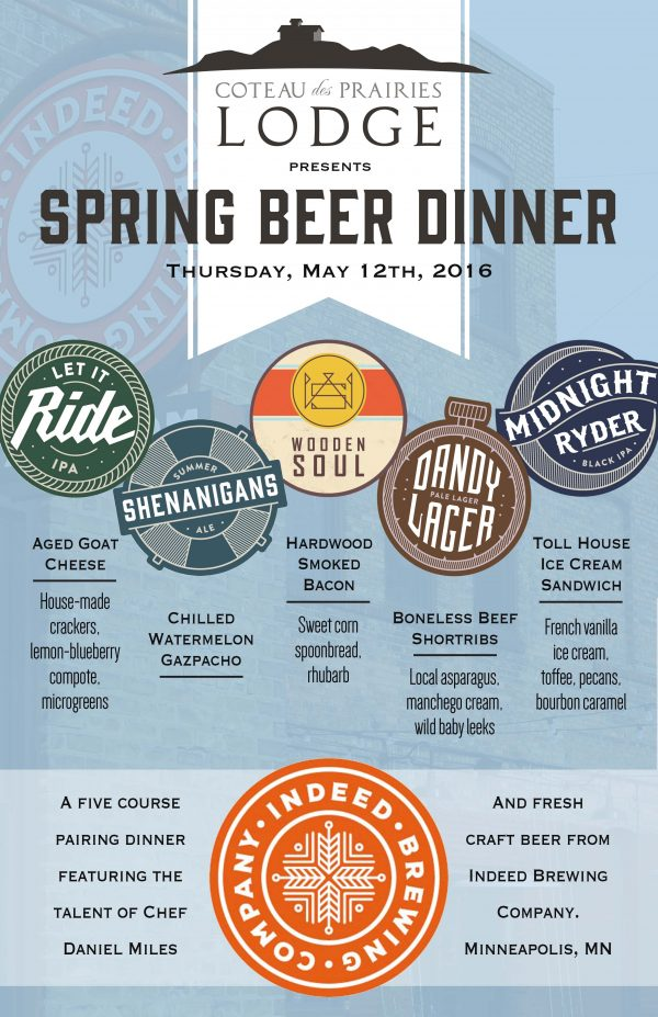 Indeed Beer Dinner Poster