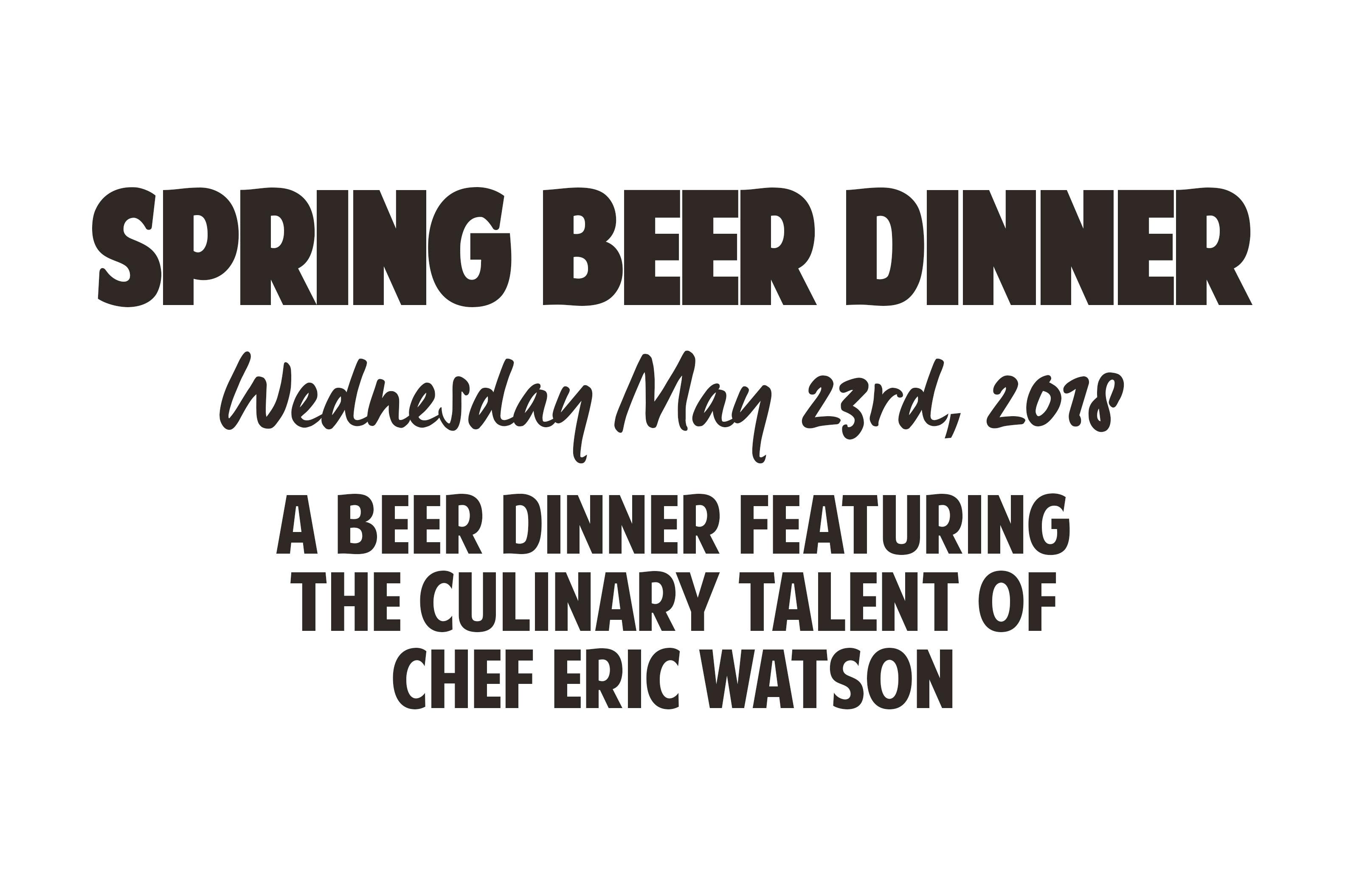 Spring Beer Dinner (5/23) | Coteau des Prairies Lodge
