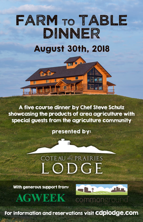 Farm To Table Dinner Coteau Des Prairies Lodge - Farm and table reservations