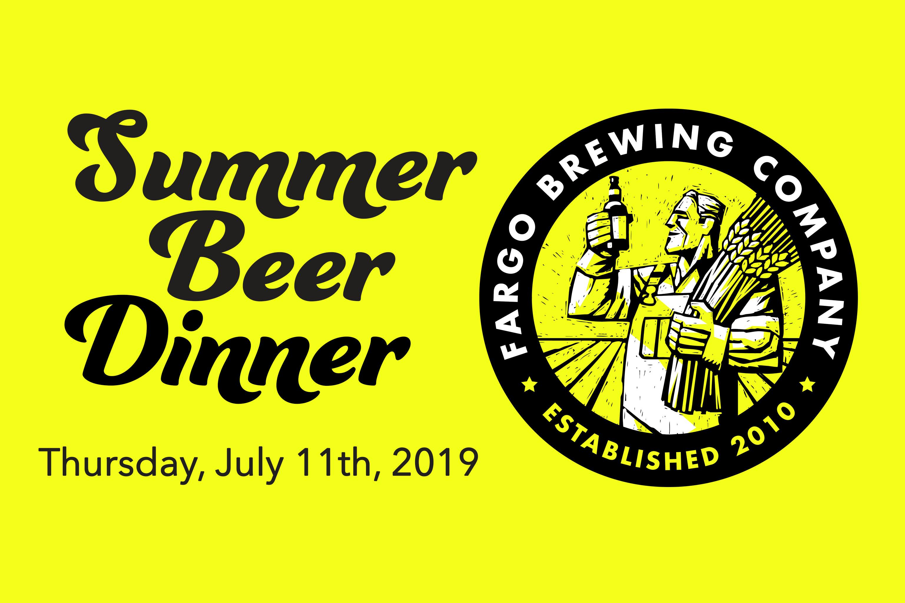 Summer Beer Dinner – Thursday, July 11th | Coteau des